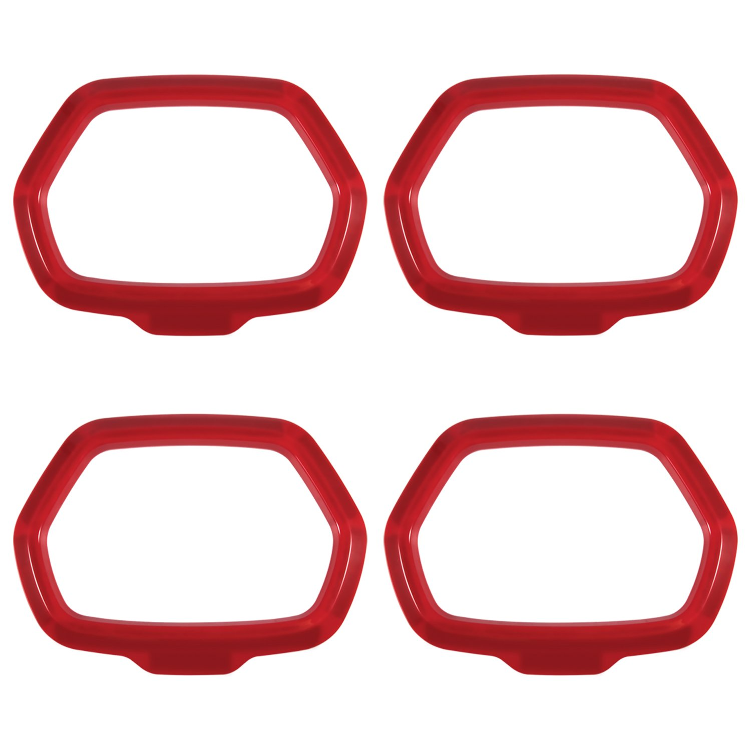 Yoursme Red Interior Door Sound Speaker Cover 4 Piece ABS Audio Ring Radio Outlet Frame Trim for 2015 2016 2017 2018 Jeep Renegade