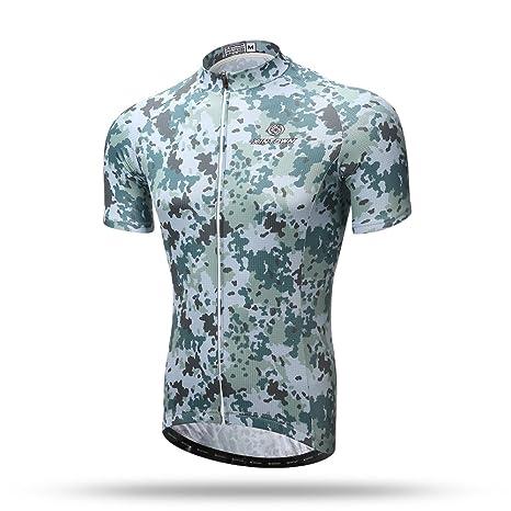 81bb31e88 Xintow Men Cycling Jersey Short Sleeve Bicycle Shirts Bike Bib Shorts  Racing Clothing Wear Suit Camo