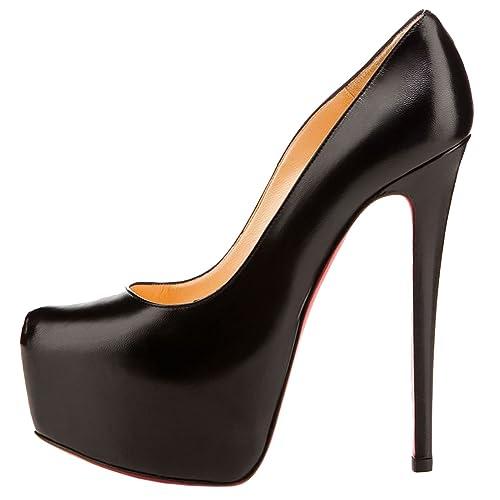 b1e05e5f79d6 EKS Women s Biracotery Stiletto High Heel Red Bottom Platform Inside Pumps  Black 11 M US  Amazon.ca  Shoes   Handbags