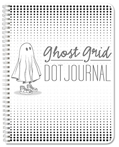 BookFactory Ghost Grid Dot Journal / Bullet Notebook 120 pages 8.5'' x 11'' Wire-O (JOU-120-7CW-A(DotJournal)) by BookFactory