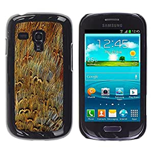 TECHCASE**Cubierta de la caja de protección la piel dura para el ** Samsung Galaxy S3 MINI NOT REGULAR! I8190 I8190N ** Fur Close Enlarged Modern Random Art