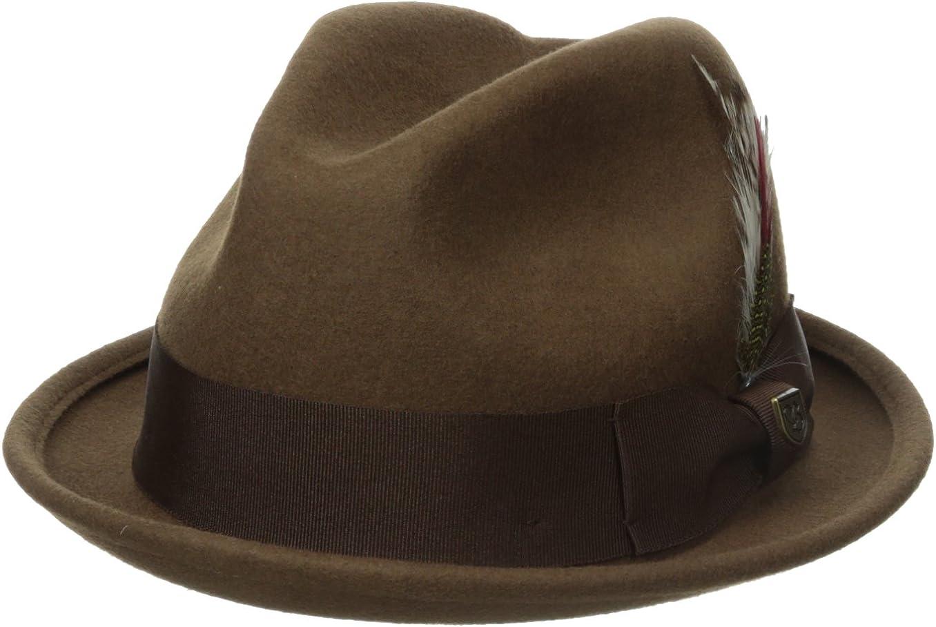 Brixton Men's Gain Fedora Hat: Clothing
