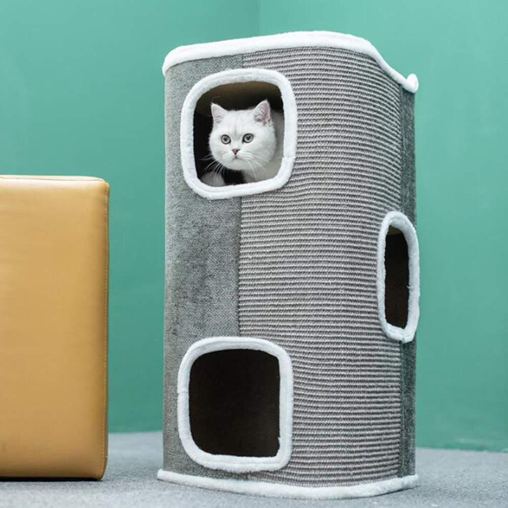 B Sisal Tube Cat Furniture,Cat Climbing Frame, Cat Nest,Cat Tree, Four Seasons Universal,Closed Luxury Pet Supplies