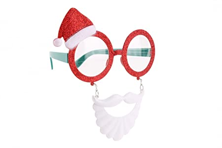 b5228142549 SANTA BEARD   HAT NOVELY GLASSES - Novelty Party Fancy Dress Childrens  Adults by BCBGMAXAZRIA  Amazon.co.uk  Kitchen   Home