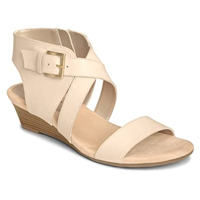 Aerosoles Women's Propryetor Wedge Sandal,Bone Leather,US ...