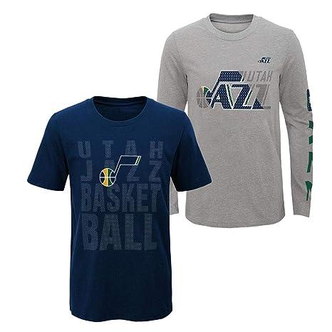 on sale 09bf9 269fc Amazon.com : Outerstuff Youth Boys Utah Jazz Tee Shirt NFL 3 ...