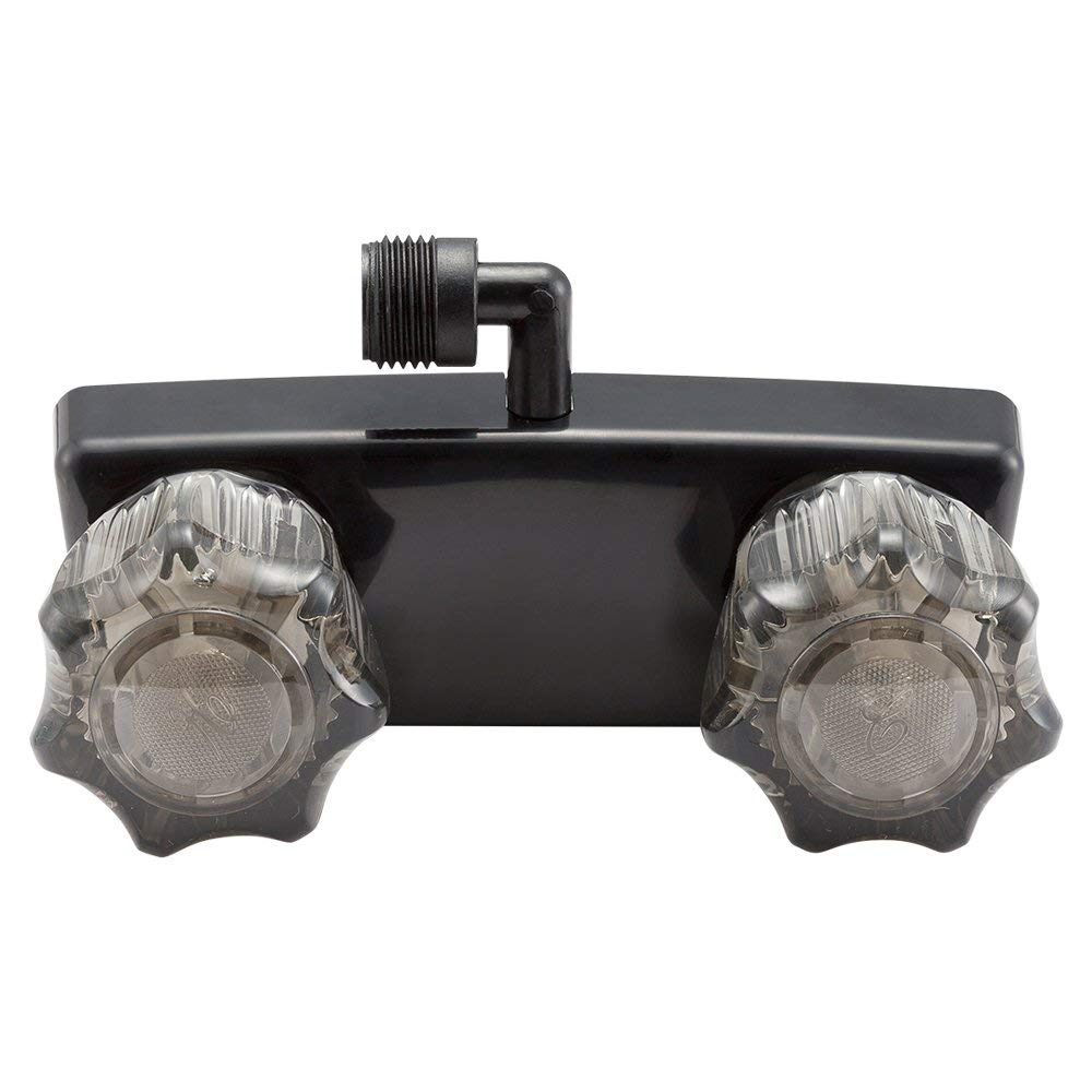 White Dura Faucet DF-SA100A1-WT Rv Shower Faucet For Exterior Shower Boxes