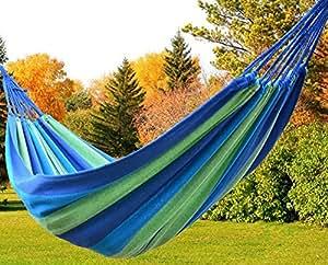 Al aire libre jard n hamaca algod n suave camping hamaca for Amazon hamacas jardin