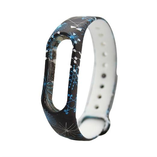 para la banda XIAOMI MI 2 de caucho de silicona relojes de moda banda de reemplazo de la correa de colores de moda a prueba de agua: Amazon.es: Relojes