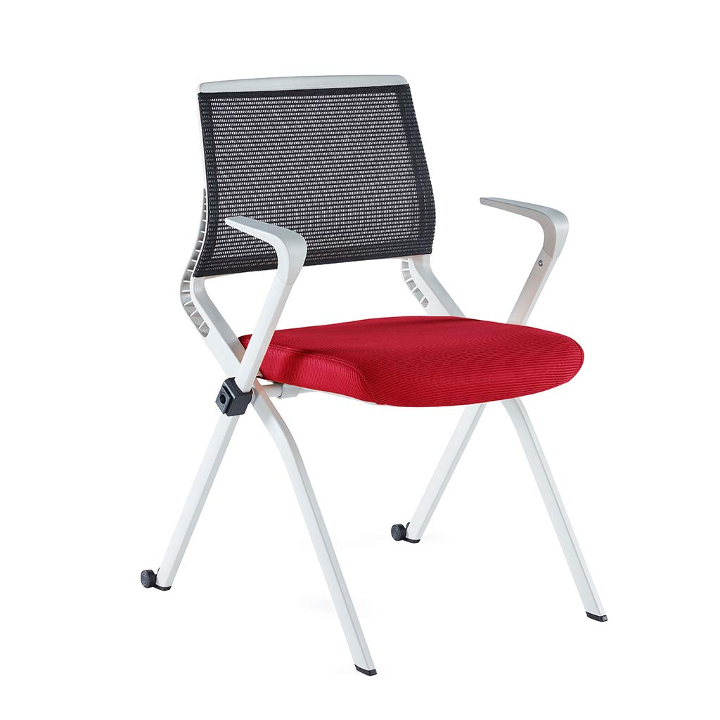 Sunon Diamond Folding Train Chair With Stacking (Red)