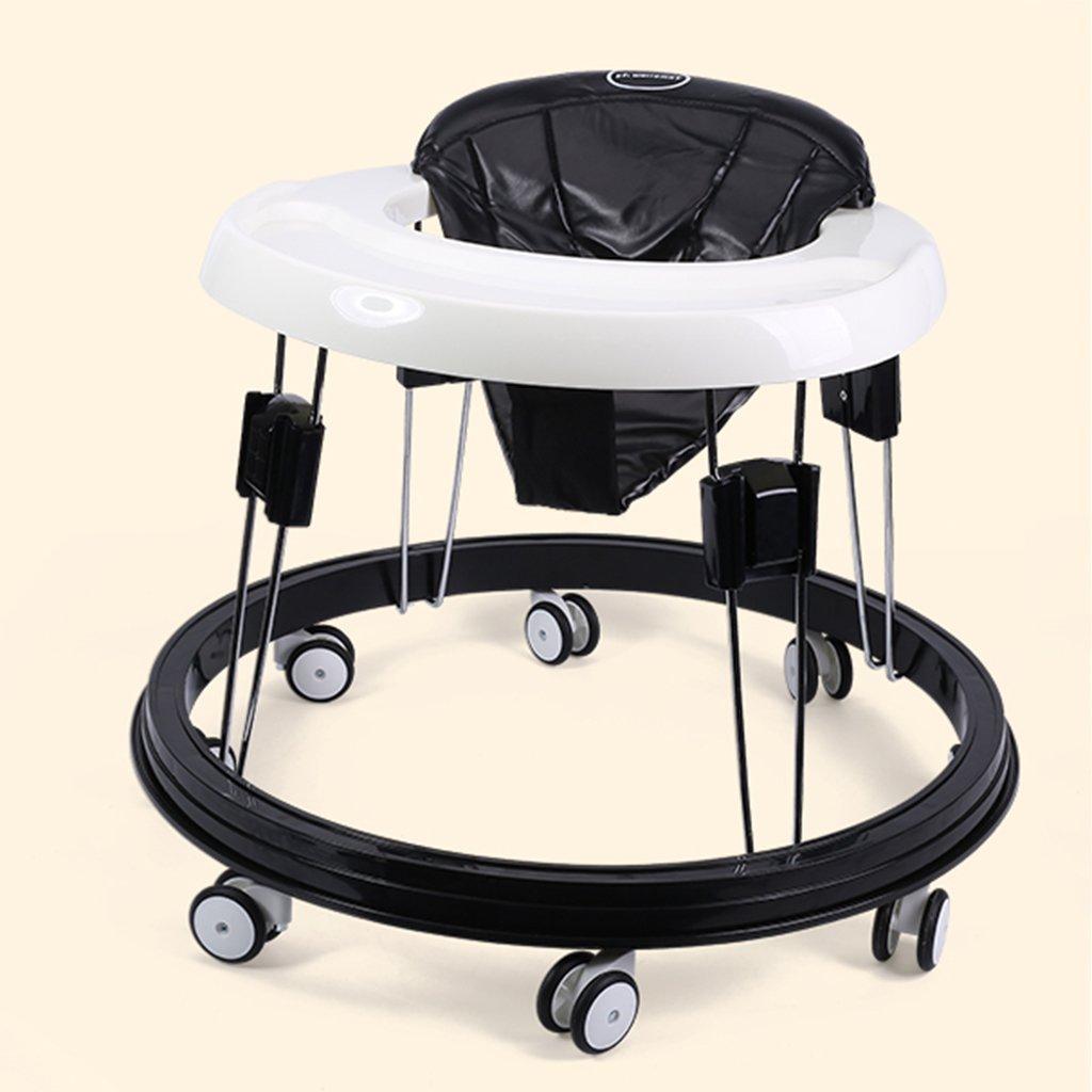 HAIZHEN マウンテンバイク 幼児/子供ベビーウォーカー6/7-18ヶ月PP + PUクッション多機能アンチロールオーバーユニバーサルホイールの手のプッシュは高さ調整可能な折り畳み式ウォーカーを座ることができます 新生児 B07DMNC3DF