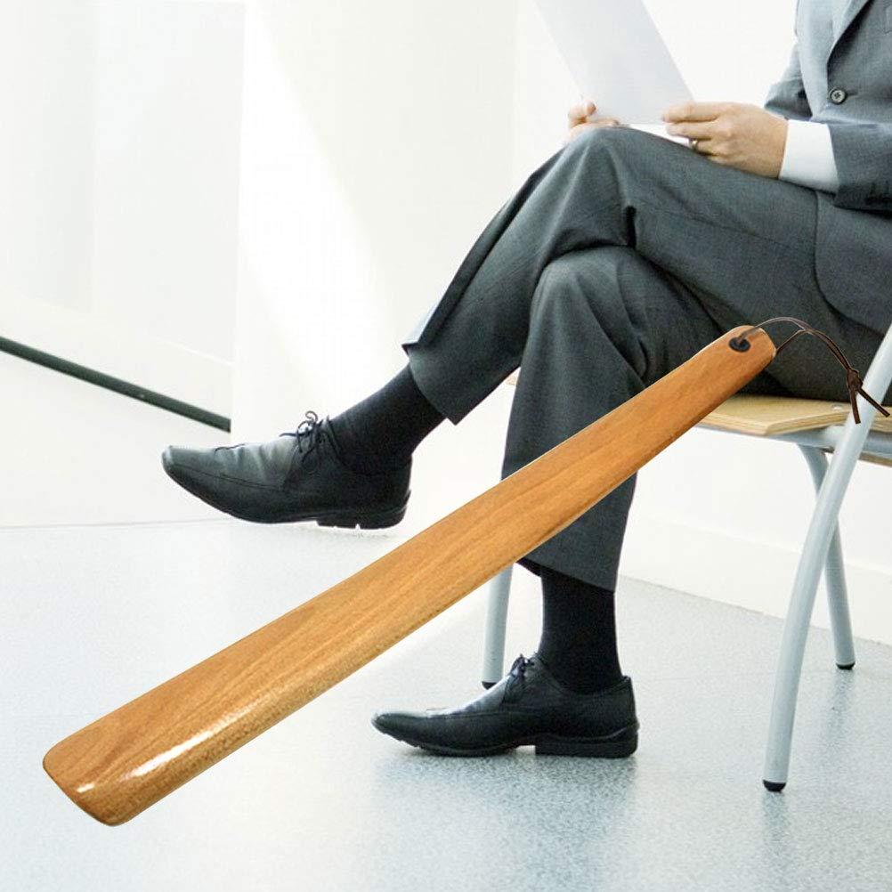 Burlywood Healifty chausse-pied L/ève-chaussure confortable en bois professionnel /à long manche en corne de chaussure pour les femmes hommes