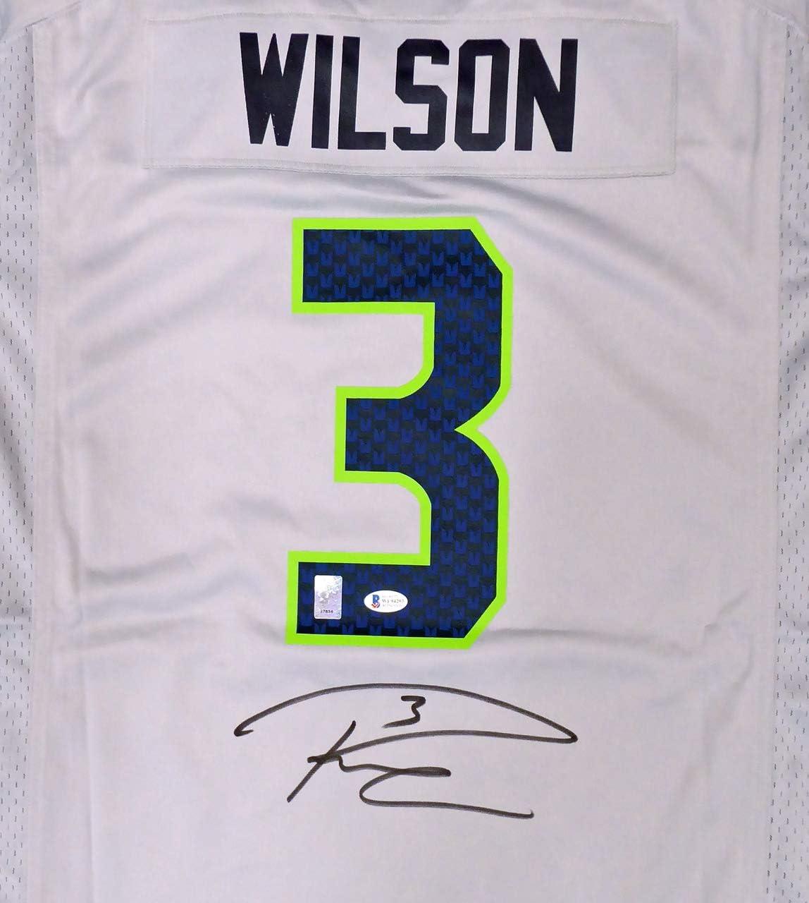 russell wilson grey seahawks jersey