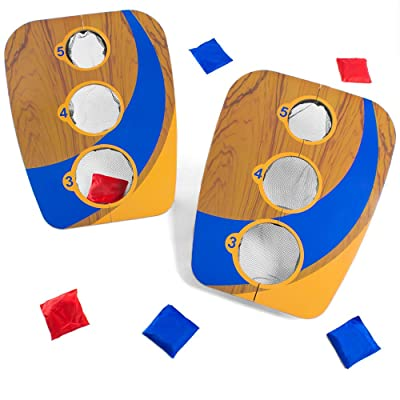 Crown Sporting Goods Take-Along 3-Hole Folding Bean Bag Toss: Toys & Games