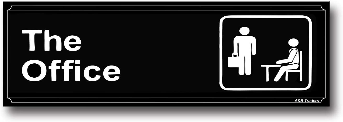 The Office Sign Door Signs for Office Vinyl Stickers for Office Doors Self Adhesive Easy to Apply Office Signs for Doors Sticker Highly Visible White Letters on Black Background by A&B Traders