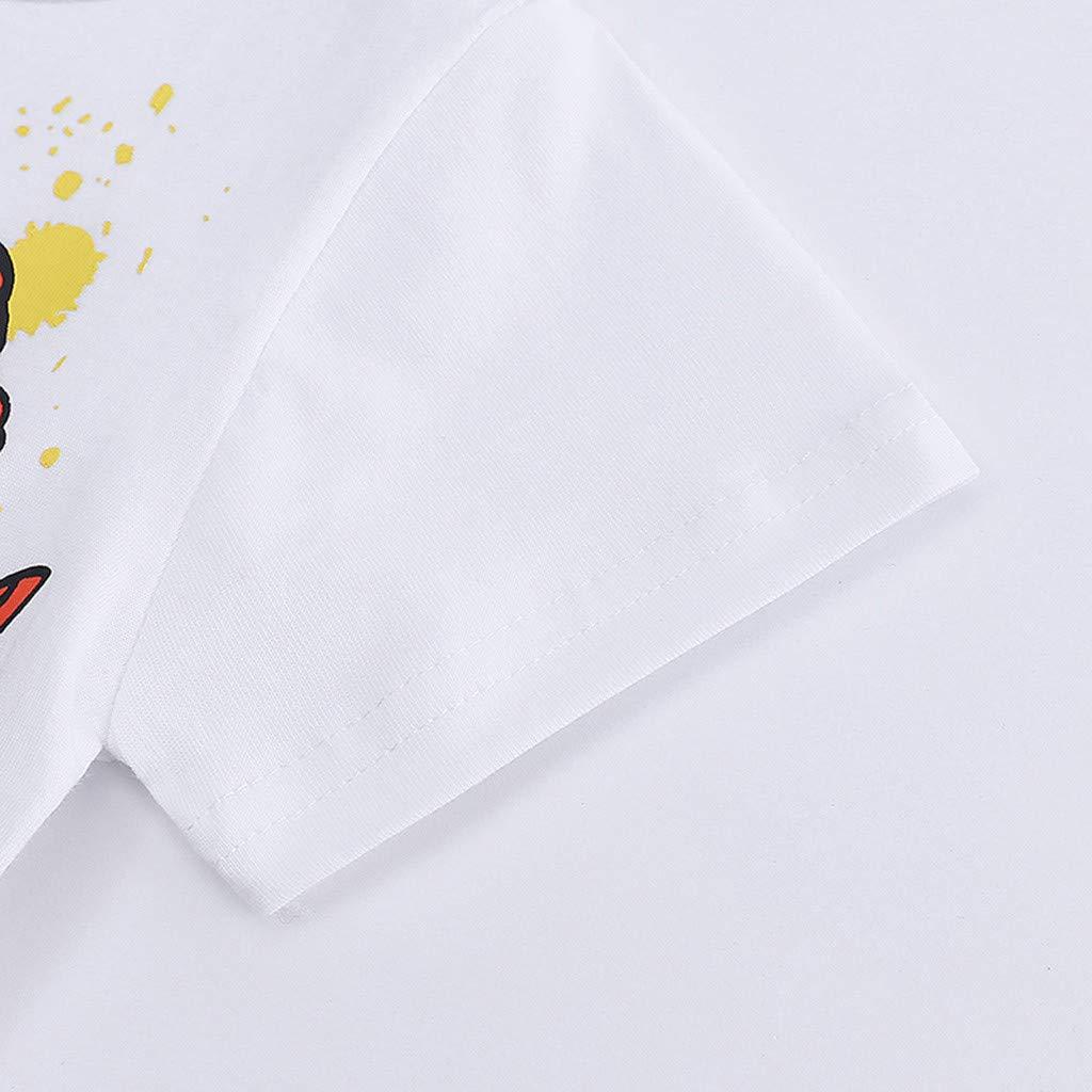 1-6Jahre Makalon Sommer Kleinkind Jungen M/ädchen T-Shirt Baby Unisex Karikatur Tops Kinder Jungs Freizeit Cartoon Einfarbig Drucken Shirt Baumwolle Hemd Kurzarm H/ülsen Tierdruck T-St/ücke