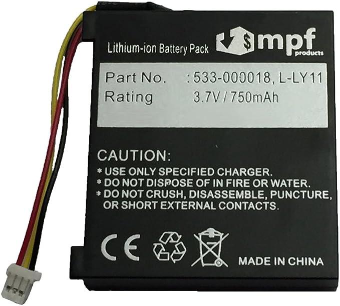 700mAh ersetzt 533-000074 3,7V Akku Li-Ion für Logitech F540 G930 981-000257