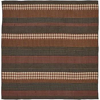 VHC Brands Rustic & Lodge Bedding-Beckham Quilt, Queen, Rust Red