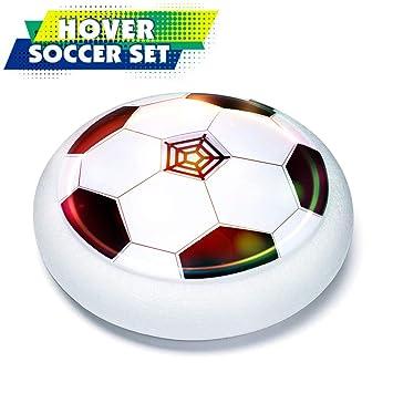 IJUSTBY Hover Juego de balón de fútbol con 2 Golas con luz LED ...