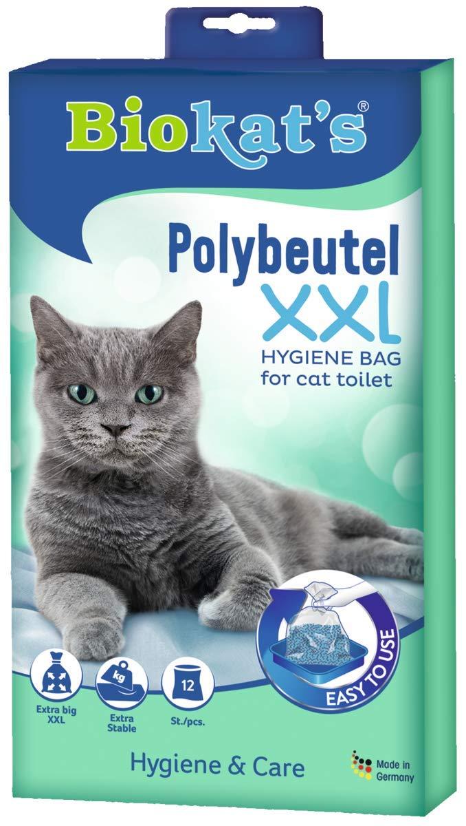 Biokats bolsa multiusos XXL , Bolsas higiénicas extra grandes y estables para arenero de gato , 144 piezas (paquete de 12 x 12 bolsas): Amazon.es: ...