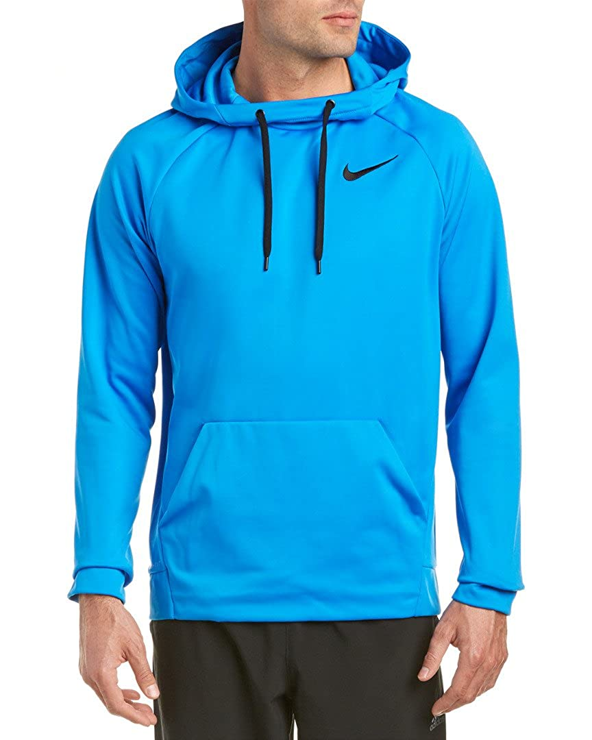 bluee L Nike Mens Therma Training Hoodie