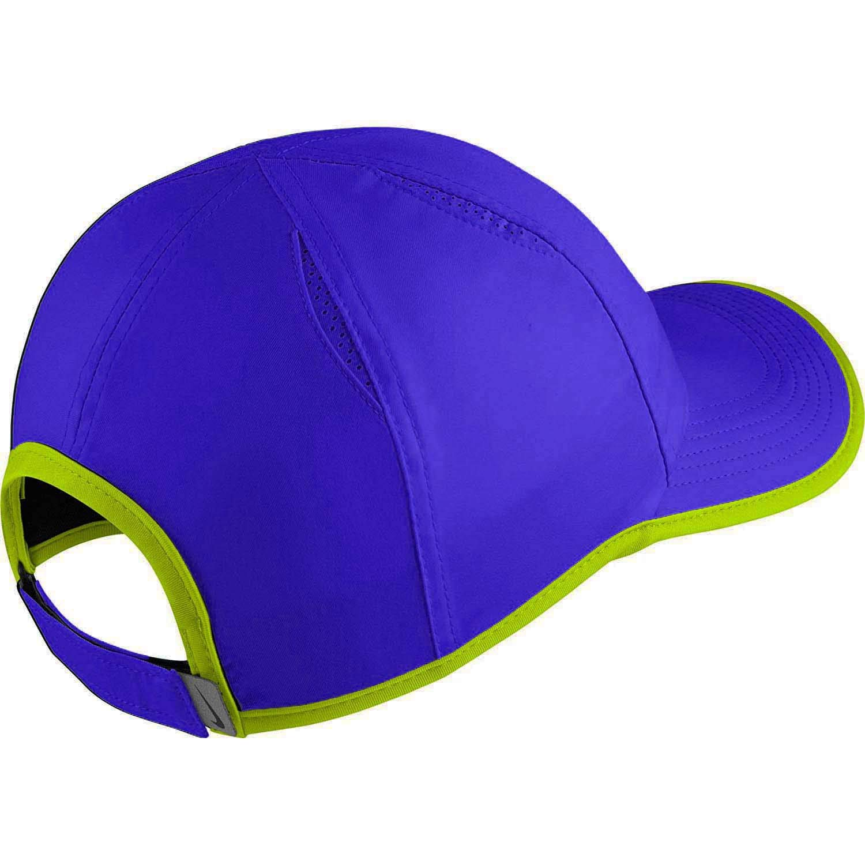 8974f20806d58 Nike Unisex Featherlite Aerobill Swoosh Tennis Hat-Paramount Blue Volt- Adjustable at Amazon Men s Clothing store  Eau De Toilettes
