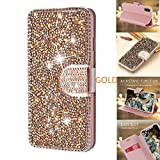 iPhone 11 Case 6.1 Inch (2019) Wallet Case YMHML Glitter Diamond Bling Rhinestone Flip Case Magnetic Bright Crystal Protective Leather with Card Slot & Kickstand for iPhone XI ((Pink)