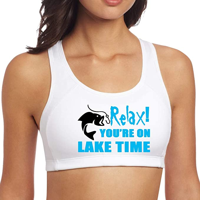 Womens Sport Relax Youre On Lake Time Yoga Brassiere ...