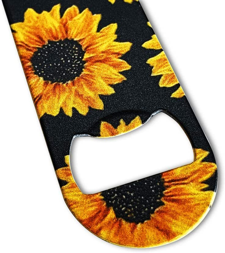 DXYI Yxyx 2 Pack Stainless Steel Flat Bottle Opener Beautiful Yellow Sunflowers Beer Openers for Kitchen Bar or Restaurant