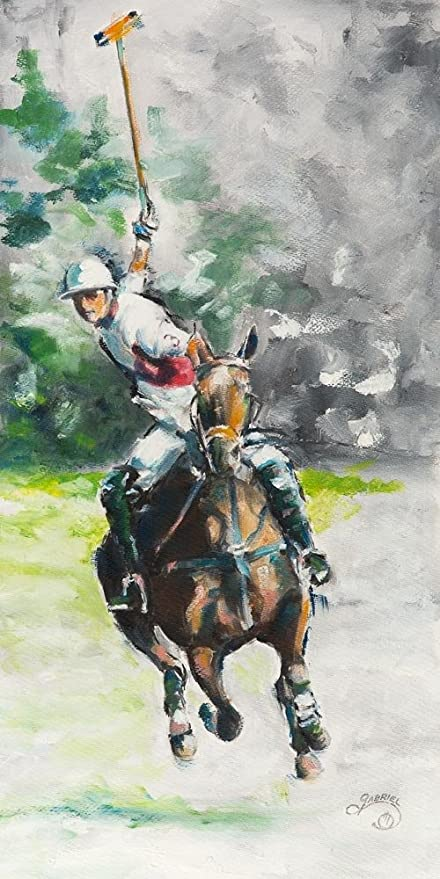 Amazoncom Rich Gabriel Polo By 10x20in Lustre Print Paintings