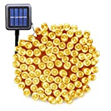 Solar String Lights Outdoor Ucharge Warm White Solar Christmas Lights 72ft 200led Fairy String Lights for Lawn, Patio, Home, Garden, Party, Holiday Decoration