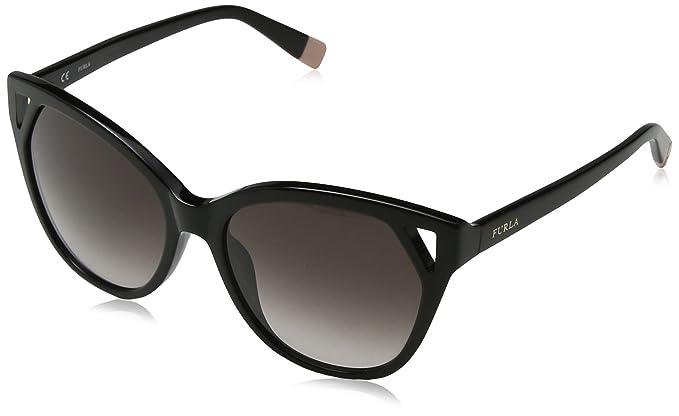 Furla Eyewear Damen Sonnenbrille, Schwarz (Shiny Black), 53