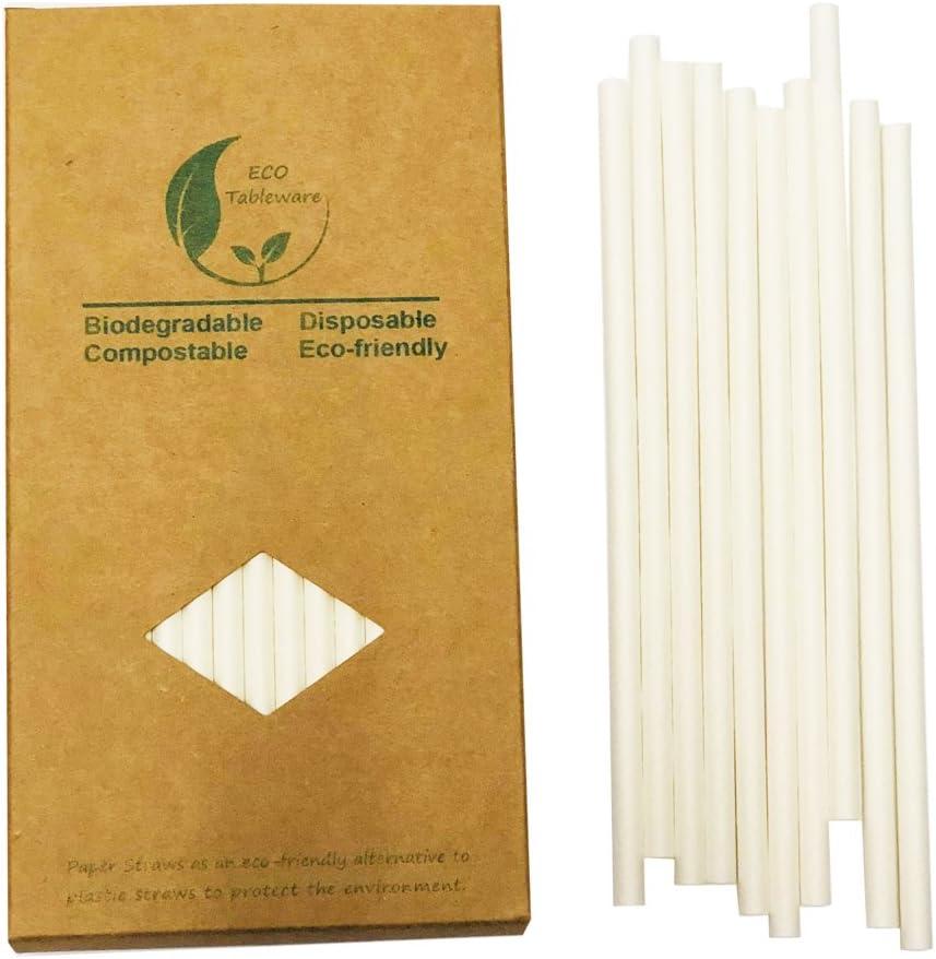 Pailles en papier kraft /écologique Pajitas Straw