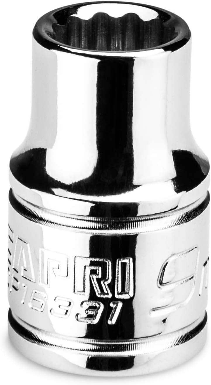 12-point Capri Tools 17 mm Shallow Socket 3//8 in Metric Drive