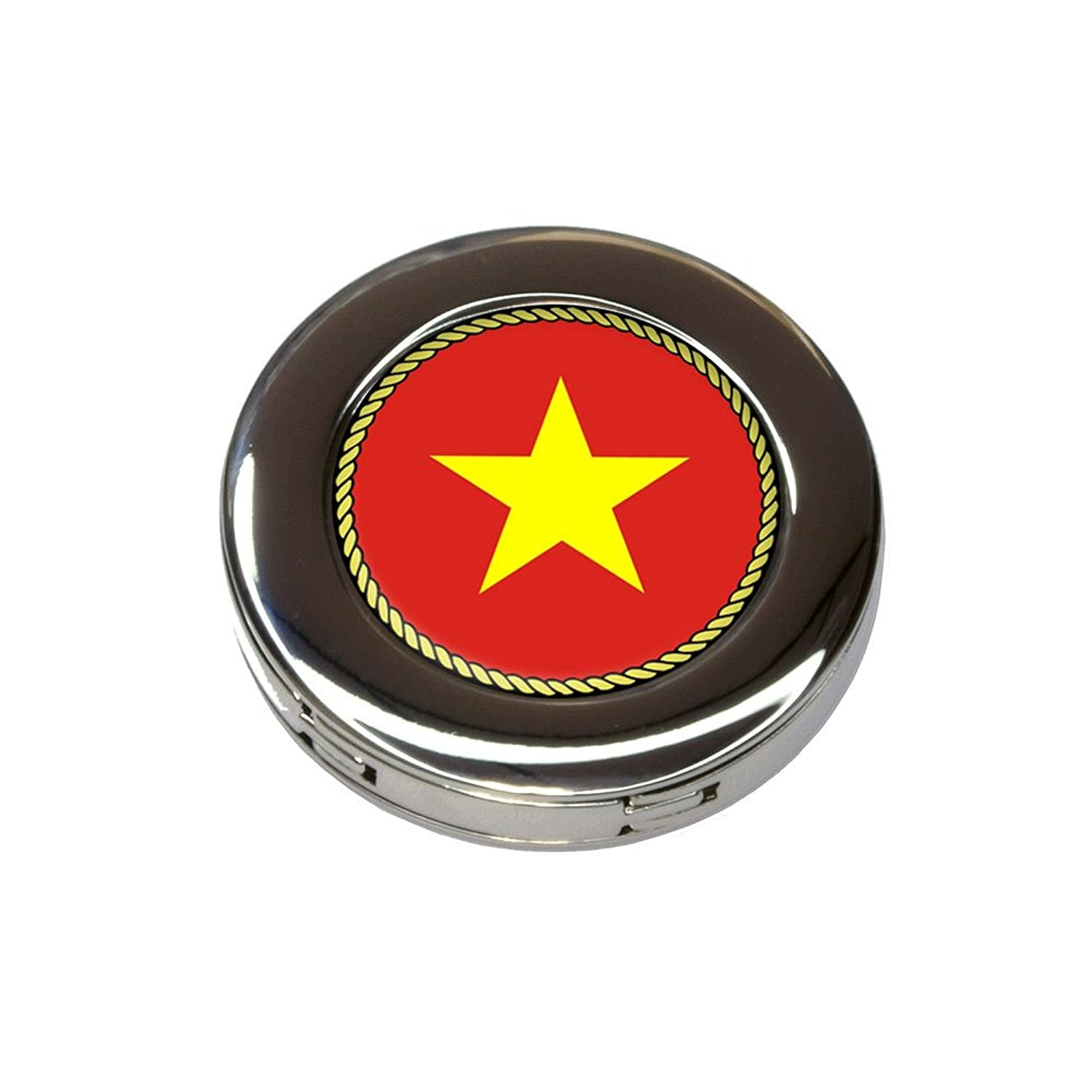 Flag of Vietnam Foldable Retractable Purse Bag Handbag Hook Hanger Holder