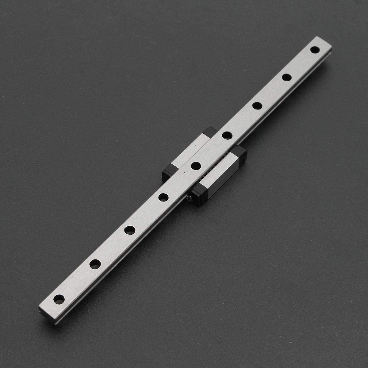 Aohi WXQ-XQ 175mm 2Pcs CPC Miniature CNC Linear Support Rail w//Slide Bearing with 1 Pc Silder Parts Linear Motion Products Linear Guides