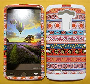 G3 VIGOR, LG G3, VIGOR CASE HIGH IMPACT DUAL LAYER PROTECTIVE HARD & SOFT RUBBER HYBRID SHOCKPROOF BUMPER COVER FOR LG G3 CASE (TRIBAL SNAP + WHITE SKIN) BUMPER CASE HARD - WH-TE868 ACCESSORIESNMORE