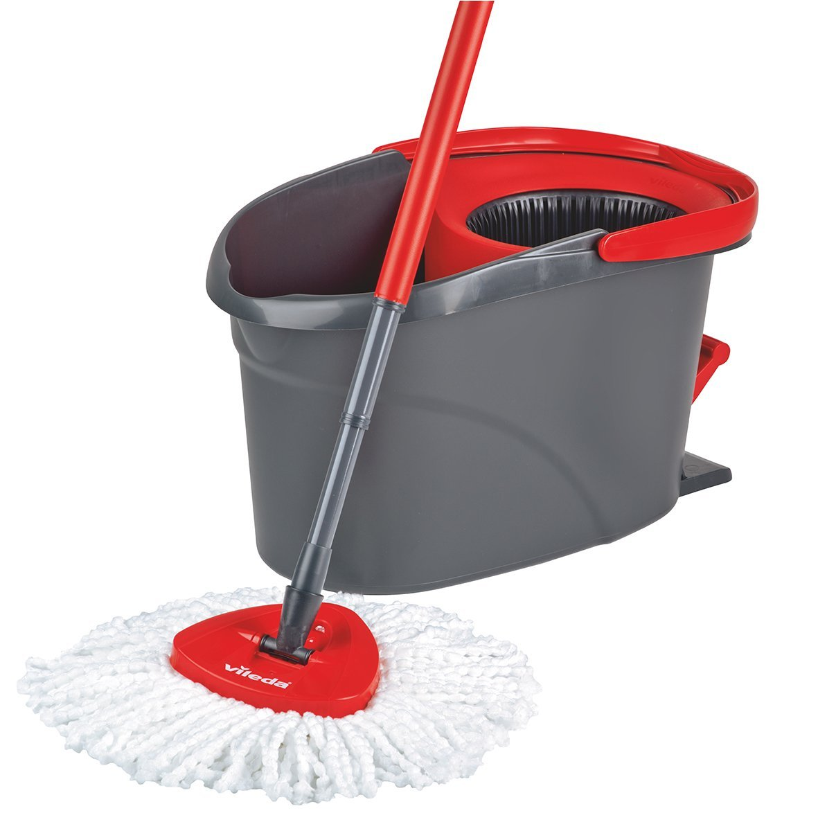 vileda easy wring and clean microfibre floor mop and bucket power spin wringer ebay. Black Bedroom Furniture Sets. Home Design Ideas