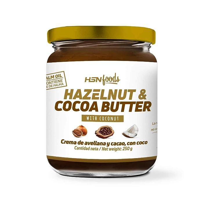 Crema de Avellanas y Cacao con Coco de HSN Foods   100% Natural   Apto Vegano ...
