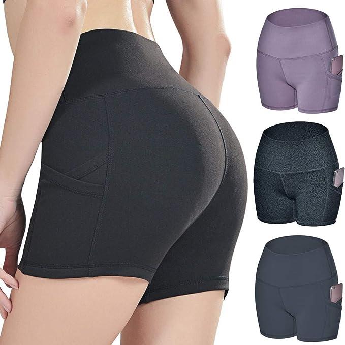 Mujer Hacer Ejercicio Pantalones Cortos Deportivo de Yoga ...