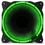 Anidees Ai Halo nuclear verde 120mm de alto flujo de aire ventilador LED–Verde