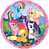 "Charming My Little Pony Friendship Birthday Party Dinner Paper Plates Disposable Tableware (8 Pack), Multi Color, 9""."