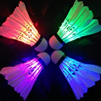 Zonfer Verlichting Badminton Shuttlecock Dark Night Kleurrijke LED-verlichting Sport Badminton Ballaccessoires Lichtvlek…