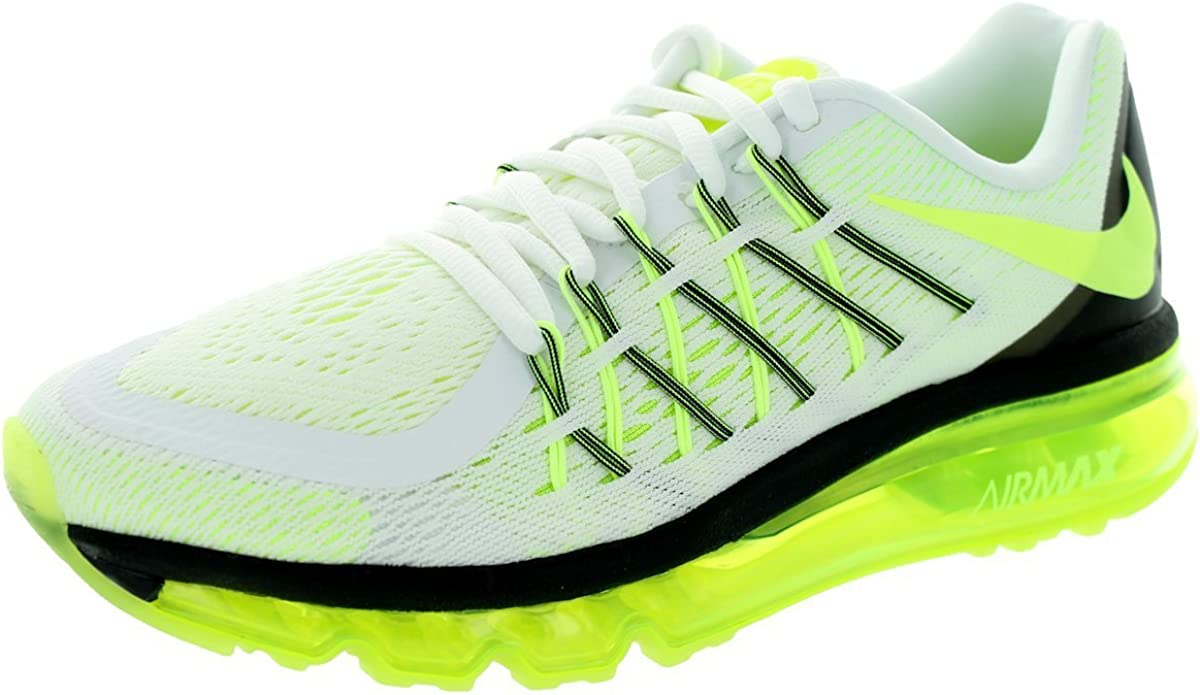 Zapatillas de running Kids Air Max 2015 (GS) White / Volt / Black ...