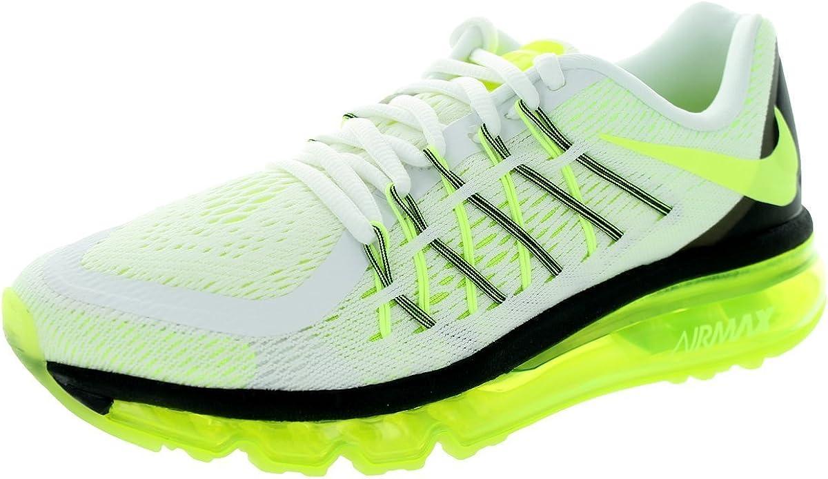 Zapatillas de running Kids Air Max 2015 (GS) White / Volt / Black ...