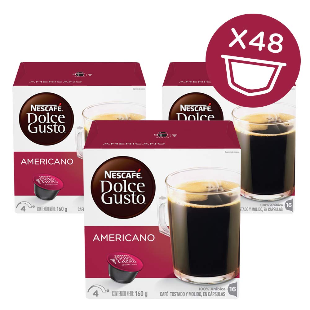 Nescaf Dolce Gusto for Nescaf Dolce Gusto Brewers, Caff Americano (House Blend), 16 Count (3.64OZ Packs)