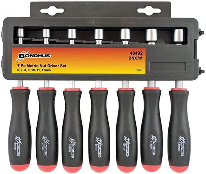7-Piece OEMTOOLS GreatNeck ND71 Metric Professional Nut Driver Set