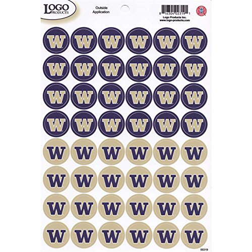 (Logo Products Washington Huskies Small Stickers Set - 48 Stickers)