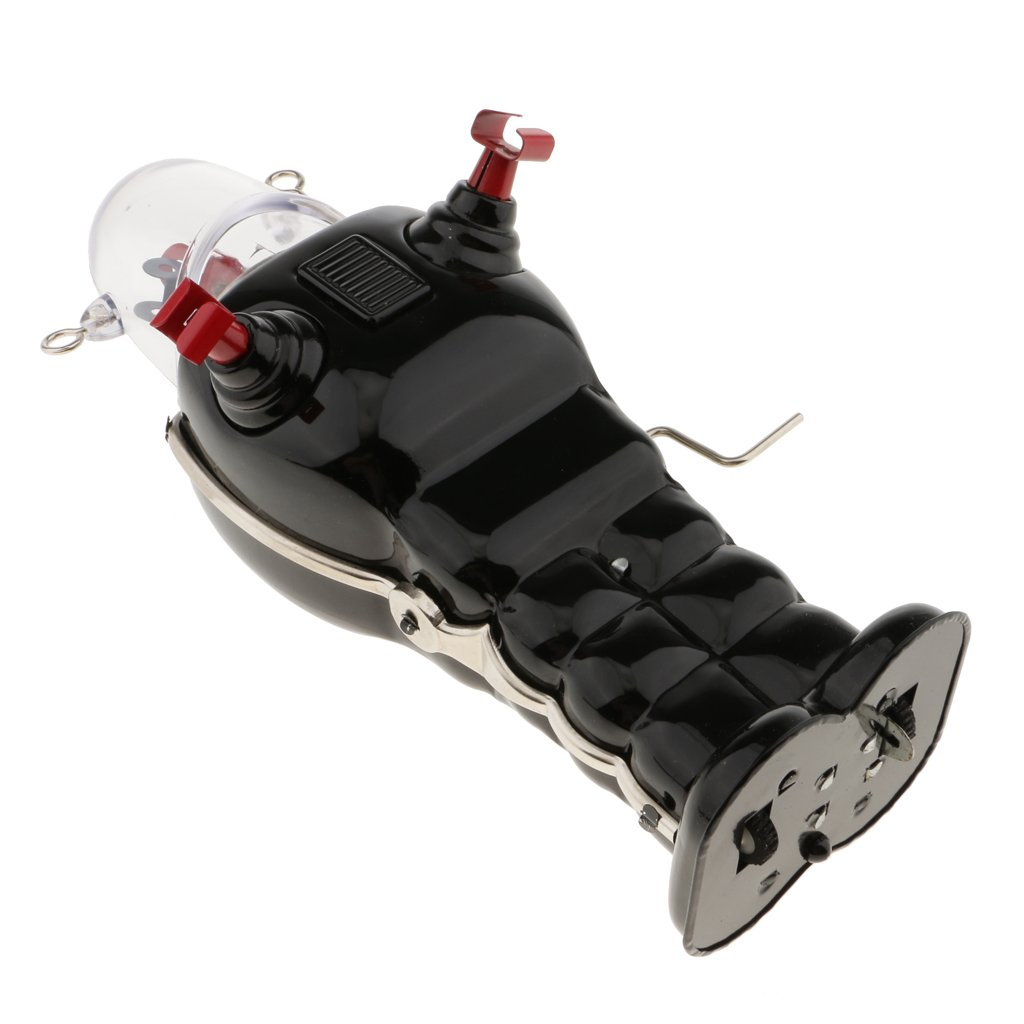MonkeyJack Vintage Robot Toy Wind Up Clockwork Space Robots Tin Toys Kids Collectible Gifts - Black by MonkeyJack (Image #6)