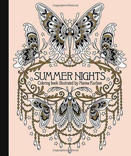 Artists Colouring Book Art Nouveau : Summer nights coloring book: originally published in sweden as